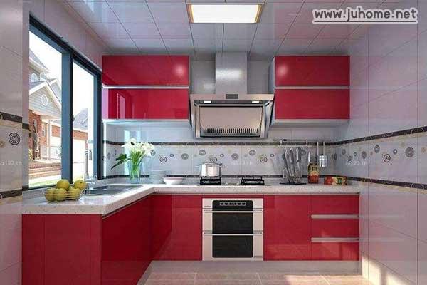 橘红色的厨房